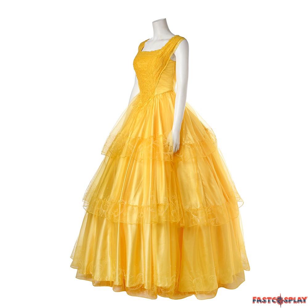 2017 beauty and the beast belle dress emma watson yellow