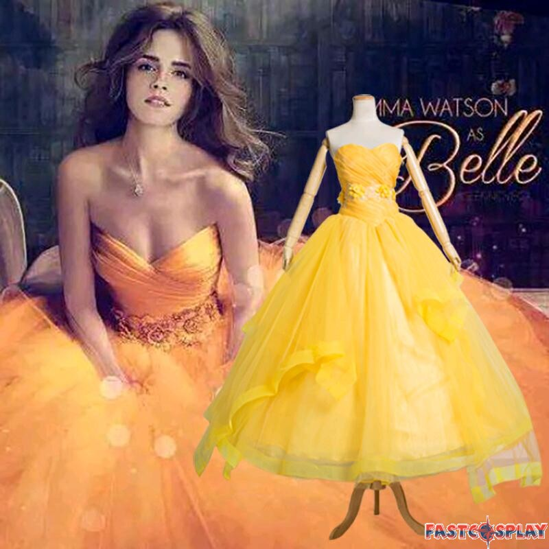2017 Movie Beauty And The Beast Belle Princess Dress