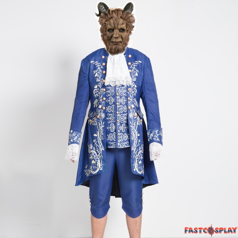 2017 movie beauty and the beast prince cosplay costume