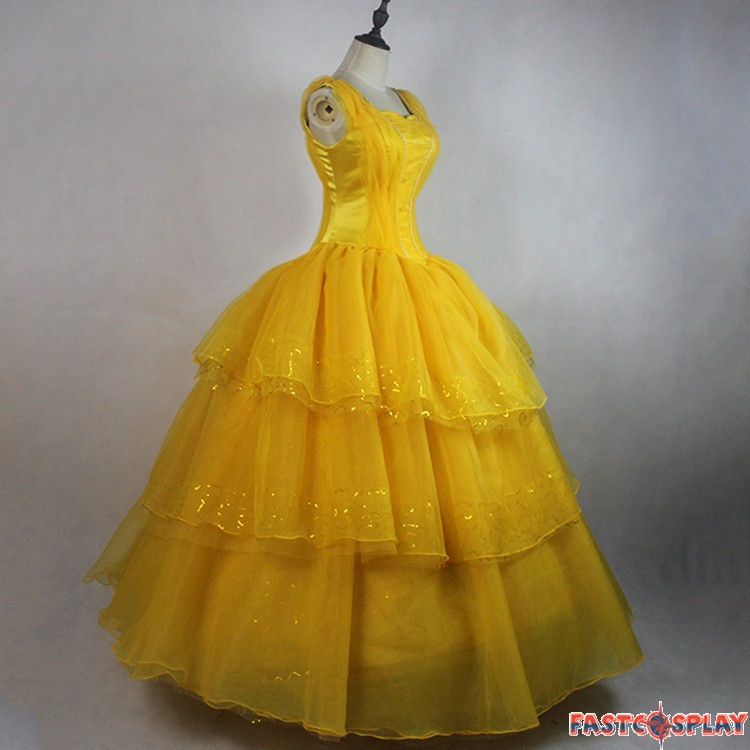 2017 Movie Beauty And The Beast Princess Belle Dress