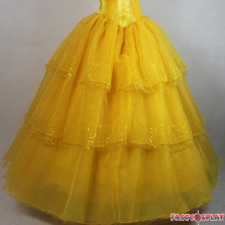 2017 Disney Beauty And The Beast Belle Dress Emma Watson Yellow