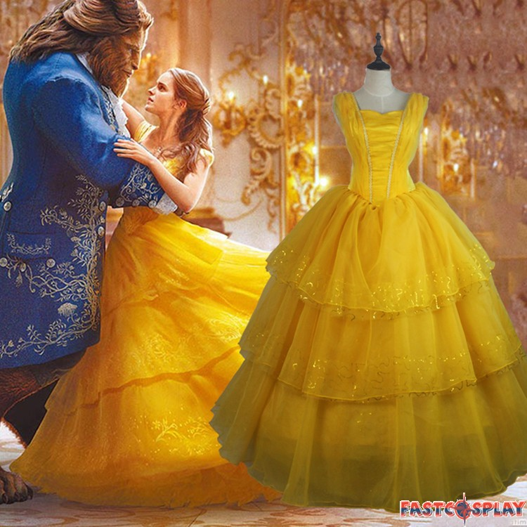 2017 Disney Beauty And The Beast Belle Dress Emma Watson Yellow