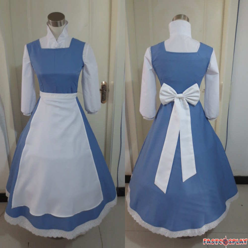 Beauty And The Beast Princess Belle Cosplay Dress Costumes