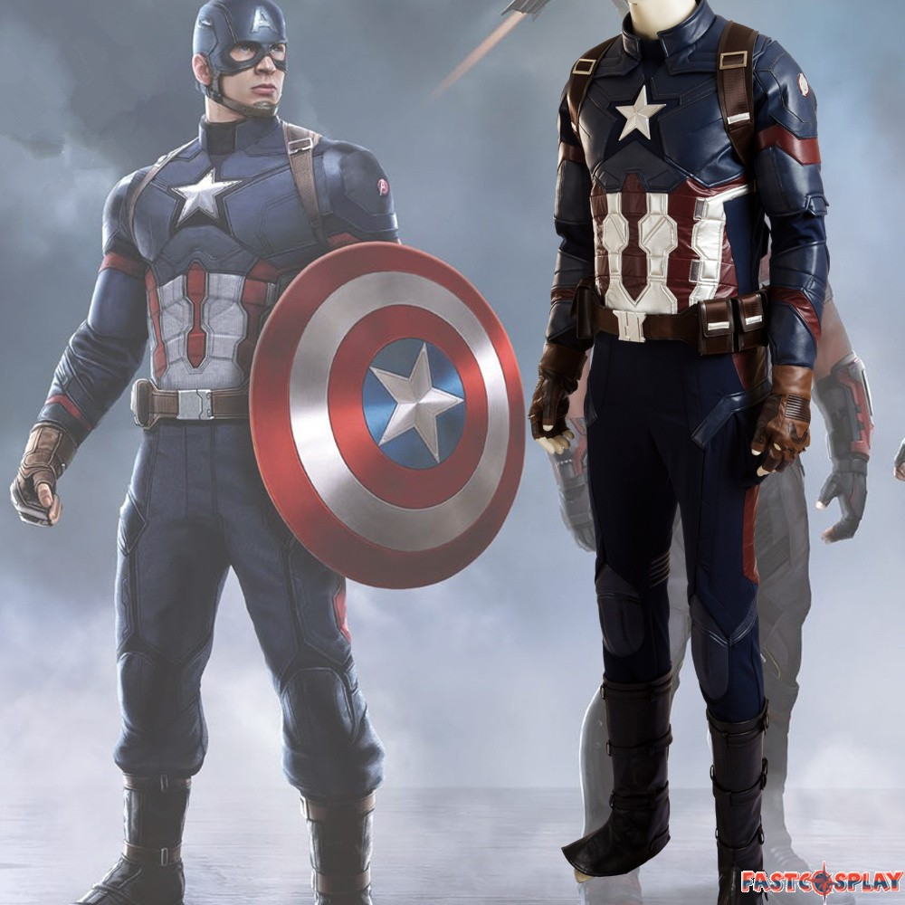 captain america 3 civil war captain america cosplay costume deluxe. Black Bedroom Furniture Sets. Home Design Ideas