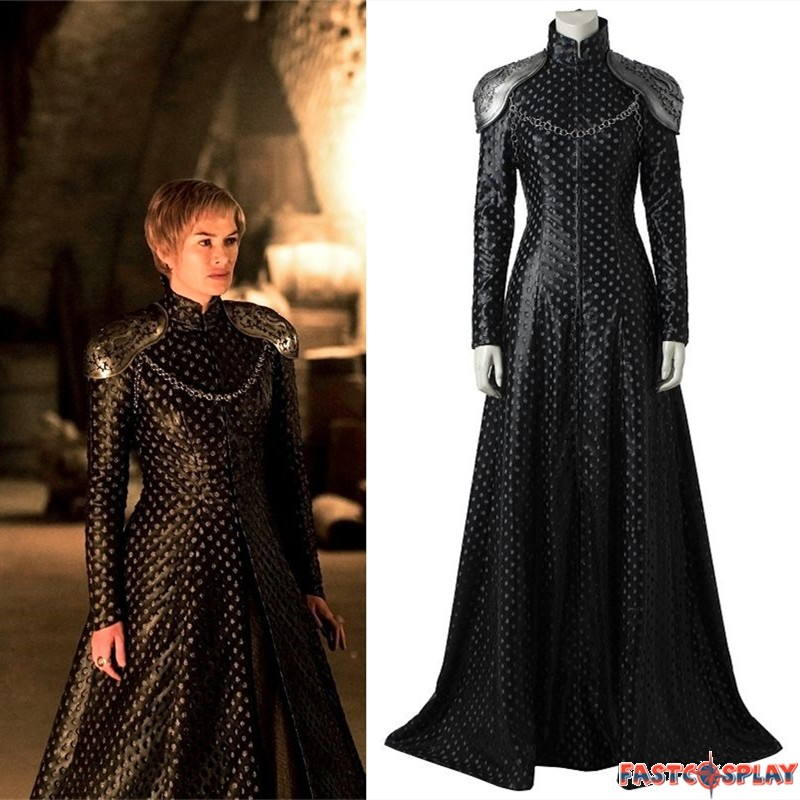 Bien connu Game of Thrones 7 Cersei Lannister Cosplay Costume Dress Outfit SL51