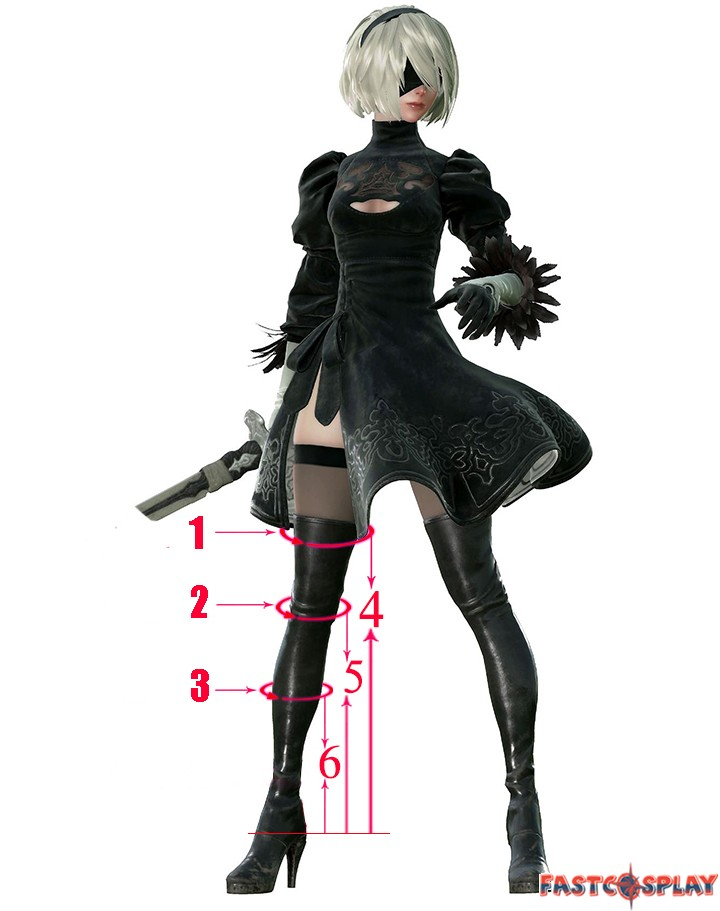 Nier Automata 2b Boots No 2 Type B Cosplay Shoes