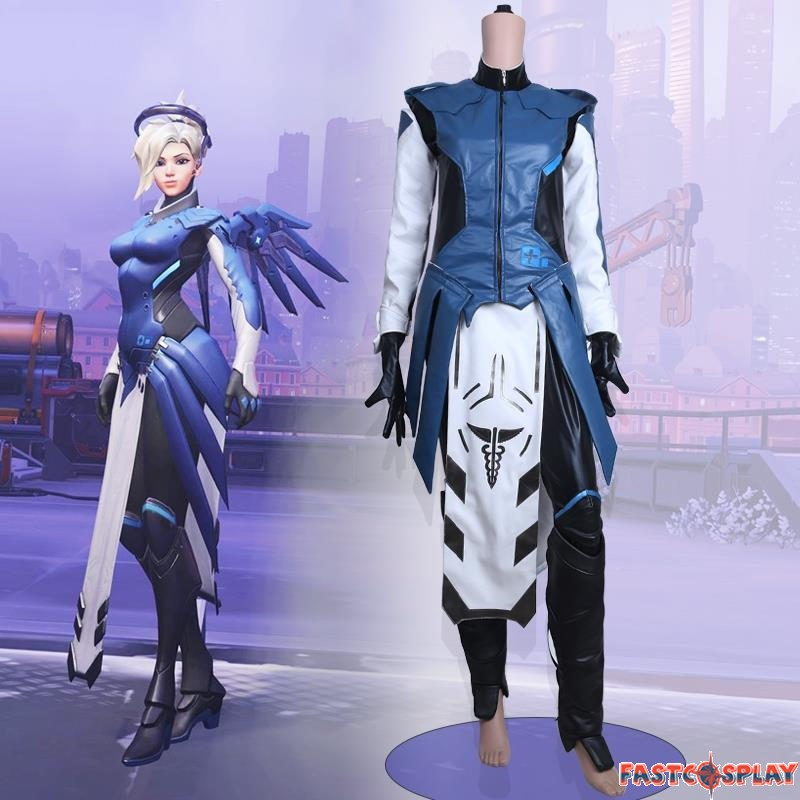 Overwatch Mercy Cosplay Halloween Costumes