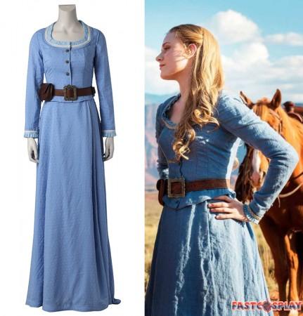 Westworld Dolores Abernathy Blue Dress Cosplay Costume
