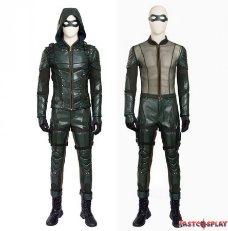 Green Arrow Season 5 Oliver Queen Cosplay Costume Outfit