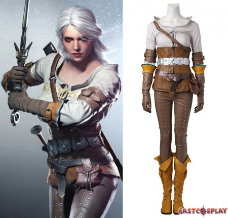 The Witcher 3 Wild Hunt Cirilla Cosplay Costume Deluxe