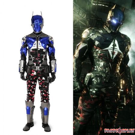 2017 NEW Deluxe Batman: Arkham Knight Men Cosplay Costumes Halloween Costume