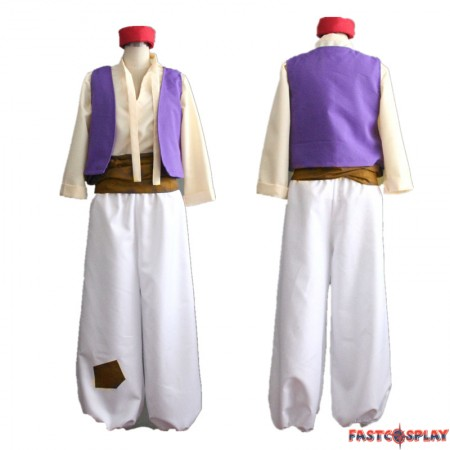 Disney Aladdin Prince Cosplay Costume Halloween Party Outfit