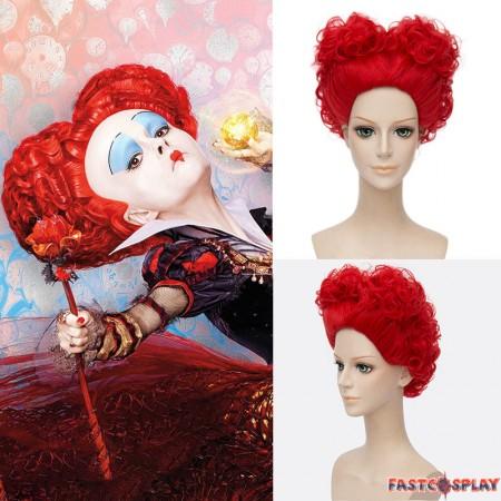 Disney Alice in Wonderland 2 The Red Queen Red Cosplay Wigs