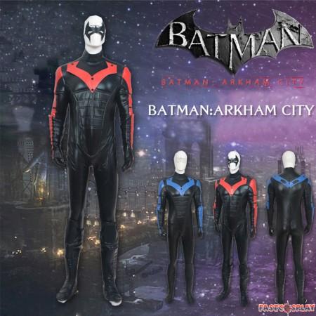Batman Arkham City Red Nightwing Richard John Dick Grayson Cosplay Costume