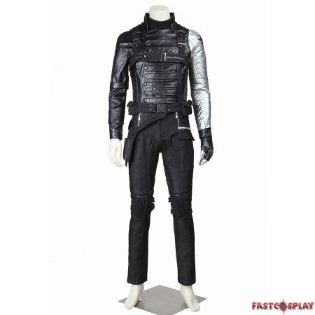 Captain America The Winter Soldier Bucky Barnes Cosplay Costume