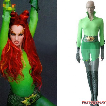 DC Poison Ivy Cosplay Jumpsuit Costume