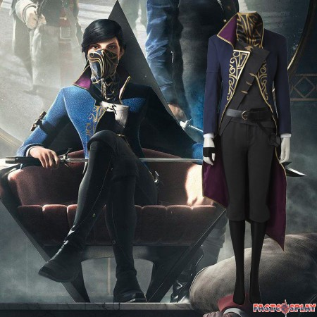 Dishonored 2 Emily Kaldwin Cosplay Costume Full Suit Deluxe