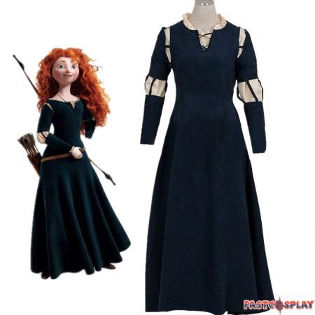 Disney Brave Princess Merida Dress Cosplay Costume Gown