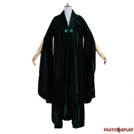 Harry Potter Minerva McGonagall Cloak Cosplay Dress Costume