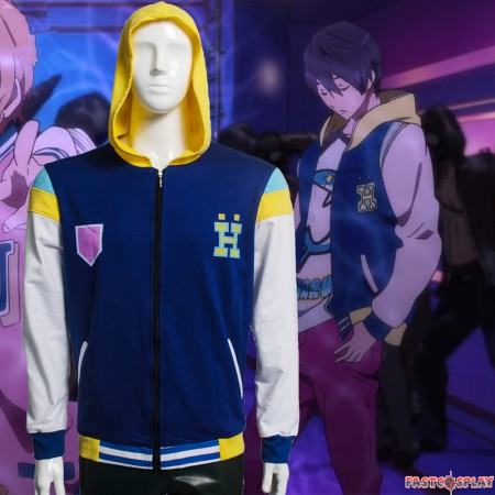 Iwatobi Swim Club Ryugazaki Rei Cosplay Hoodie Jacket Baseball Jacket