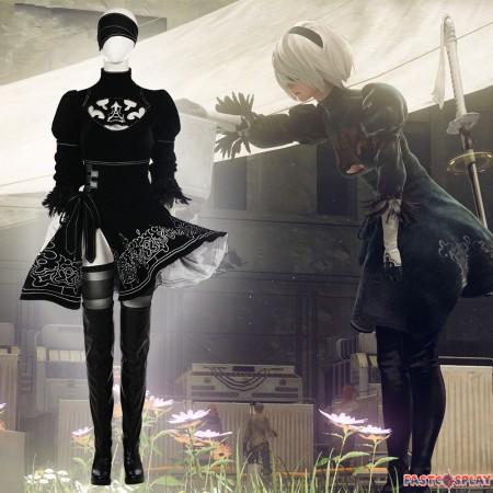 NieR: Automata 2B Cosplay Costume Full Set Deluxe Version