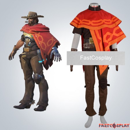 Overwatch Jesse Mccree Cosplay Costumes