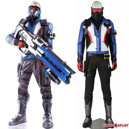 Overwatch Soldier 76 John Jack Morrison Cosplay Costume Full Set