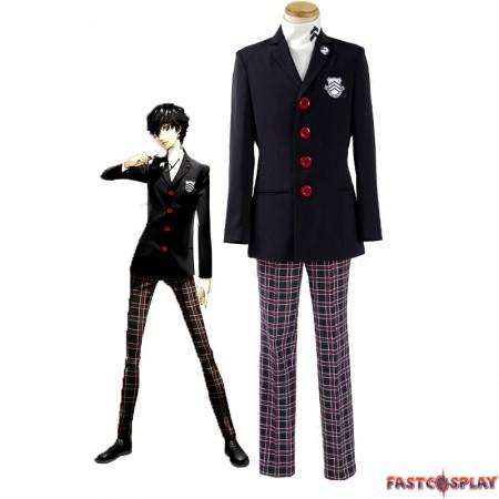 Persona 5 Protagonist Jacket Coat Top Suit Uniform Cosplay Costume