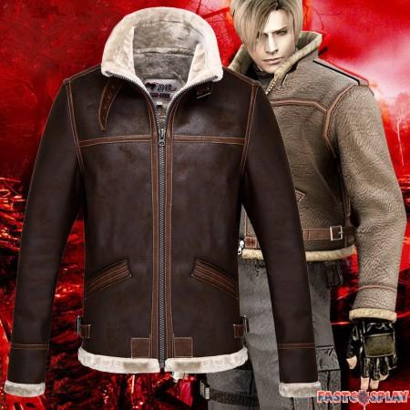 Resident Evil 4 Leon Scott Kennedy Leather Jacket Costume