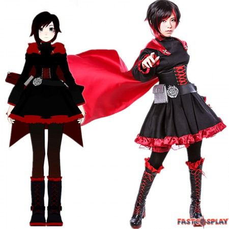 RWBY Red Trailer Ruby Rose Cosplay Costumes