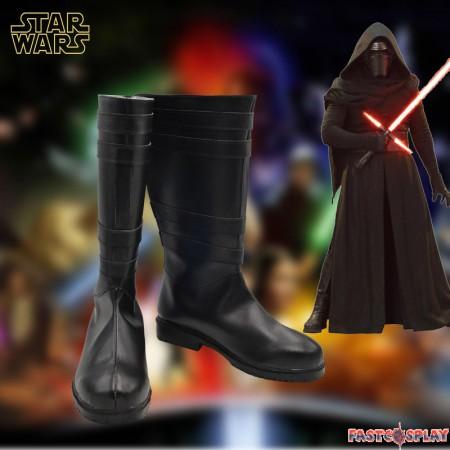 Star Wars The Force Awakens Kylo Ren Ben Solo Cosplay Boots