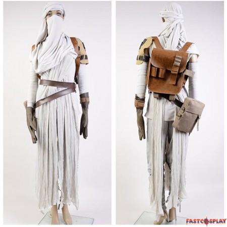 Star Wars The Force Awakens Rey Cosplay Costume Deluxe Version