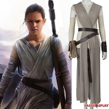 Star Wars The Force Awakens Rey Cosplay Costume
