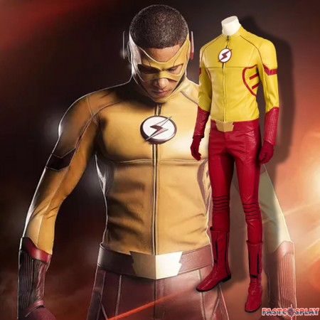 The Flash Season 3 Kid Flash Cosplay Costume Deluxe