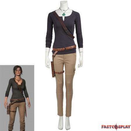 Tomb Raider Lara Croft Cosplay Costume Long Sleeve Shirt Version