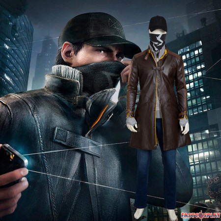 Watch Dogs Aiden Pearce Cosplay Costume Full Set Deluxe Version