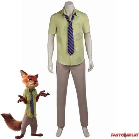 Zootopia Nick Wilde Shirt Suit Cosplay Costume