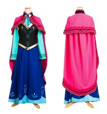 Disney Frozen Anna Cloak Dress Costume Cosplay