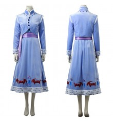 Olaf's Frozen Adventure Anna Cosplay Costume Deluxe Fancy Dress