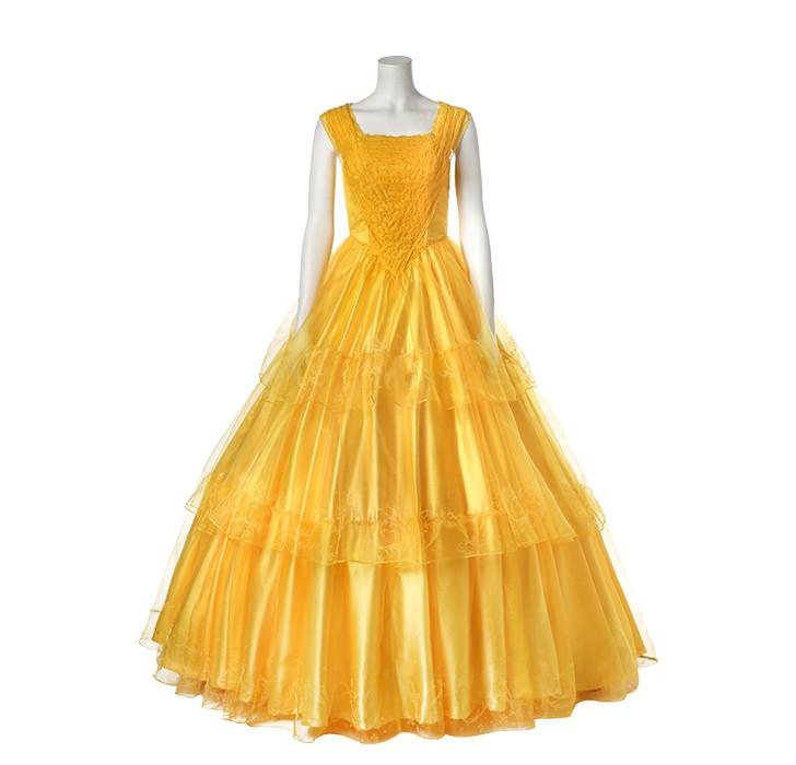 2017 Disney Beauty And The Beast Belle Dress Emma Watson Yellow Dress Deluxe