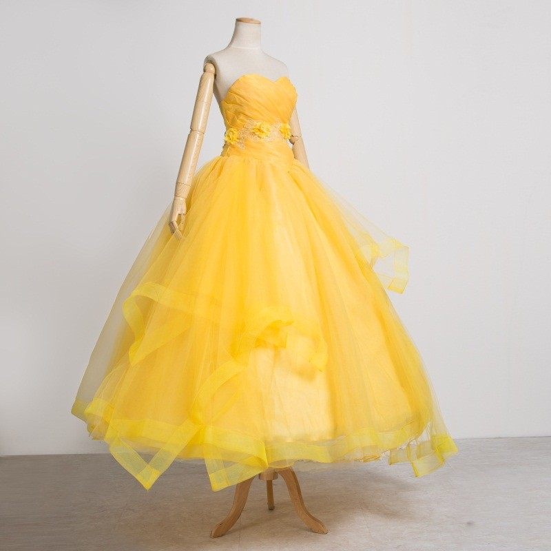 2017 Disney Movie Beauty and The Beast Belle Princess Dress Costume Cosplay