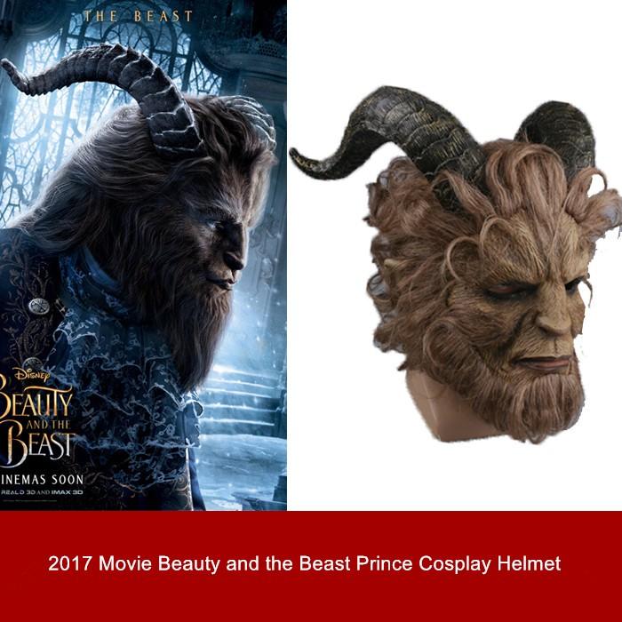 2017 Disney Movie Beauty and the Beast Prince Cosplay Mask Helmet