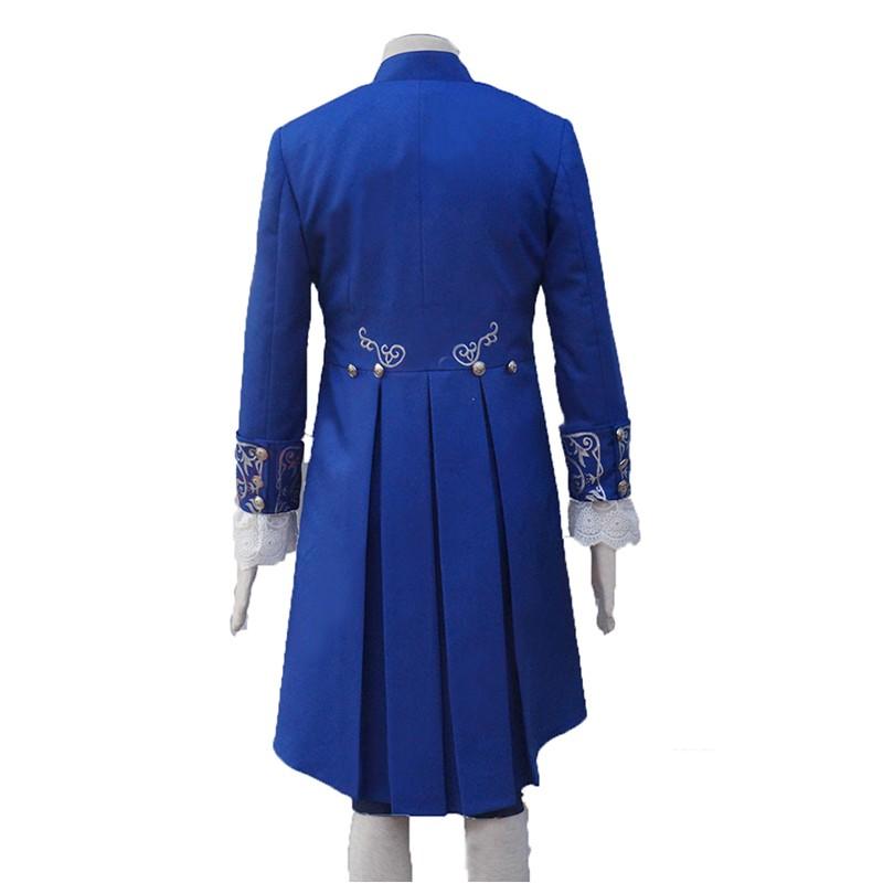2017 Disney Movie Beauty And The Beast Prince Uniform Costume Cosplay