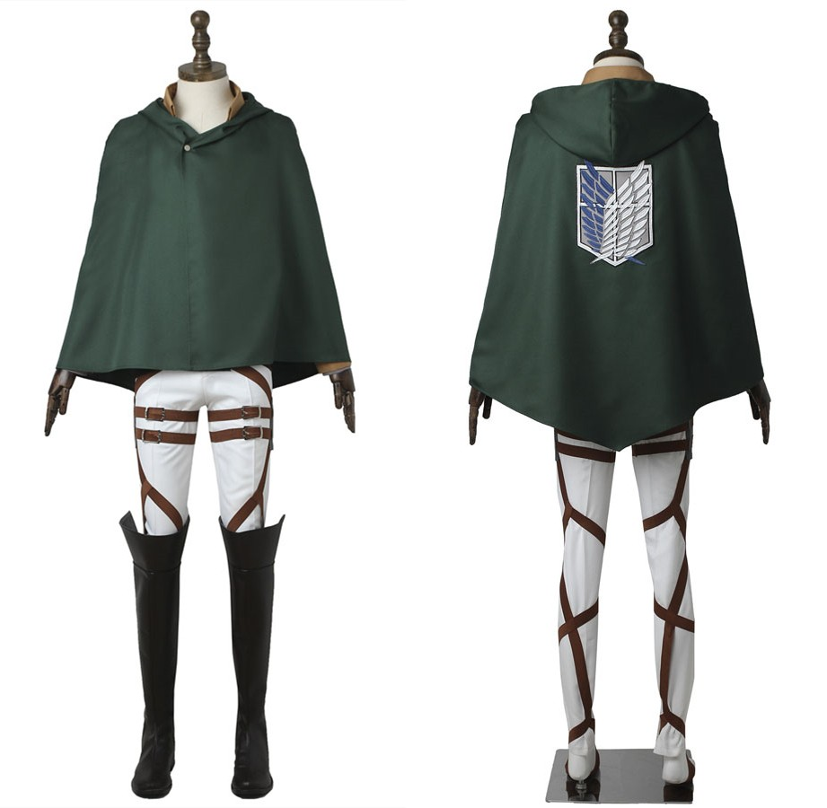 Attack on Titan Eren Yeager Cosplay Costume Scout Legion Costume