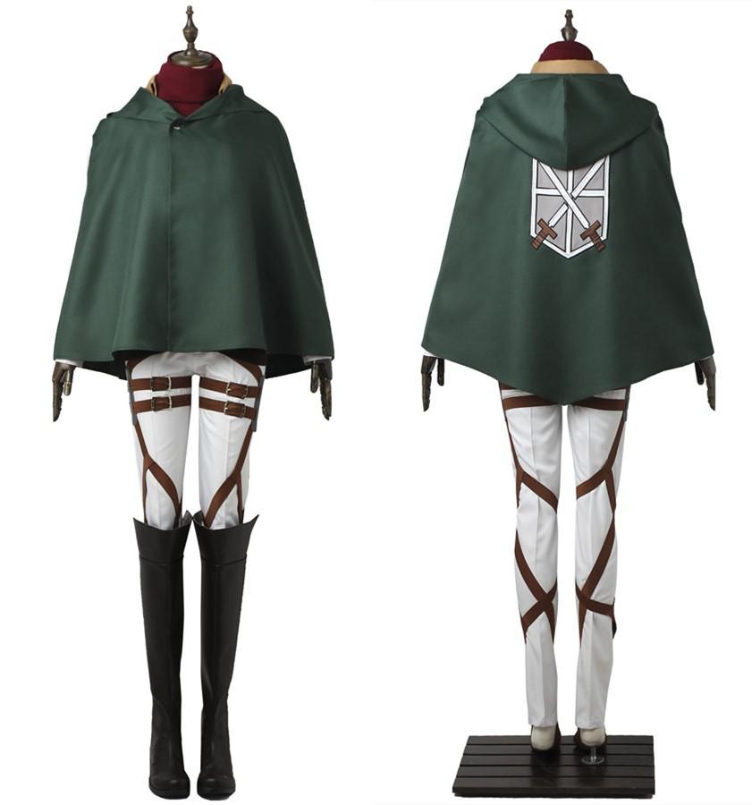 Attack on Titan Mikasa Ackerman Cosplay Costume Training Corps Costume