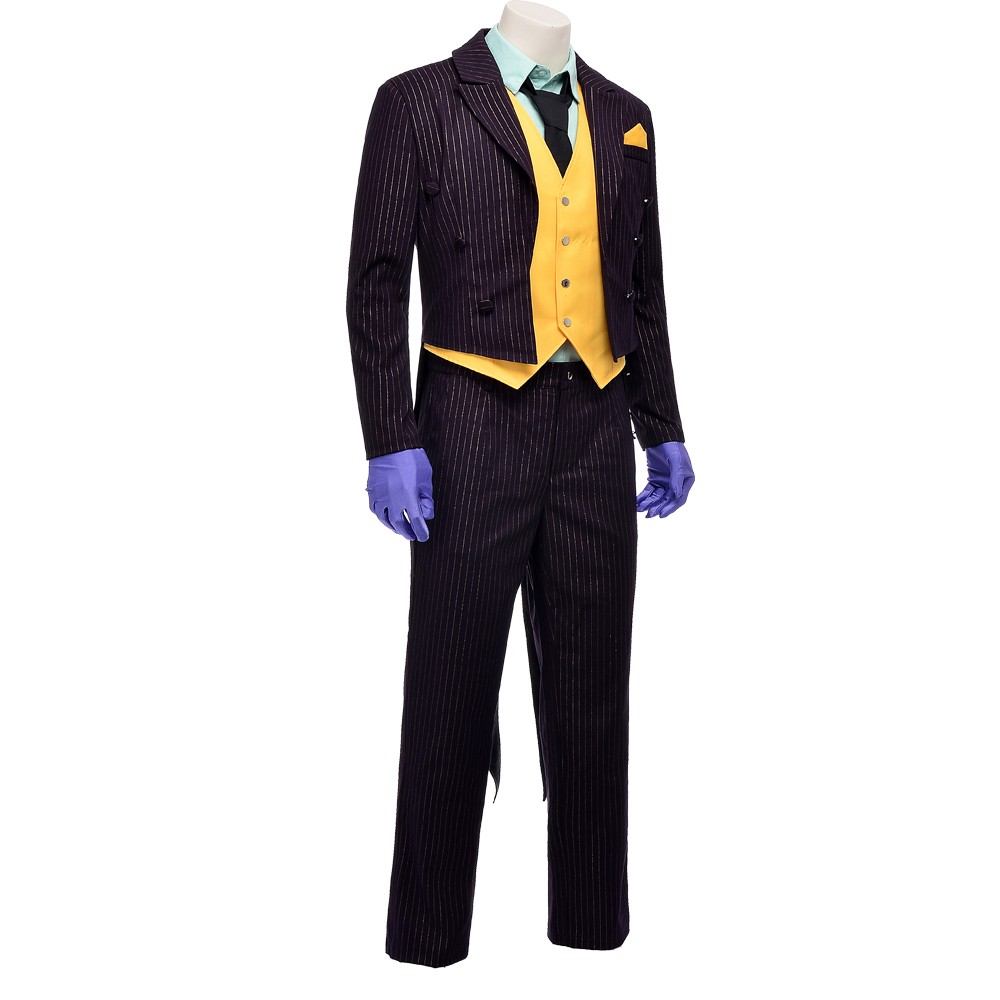 Batman Arkham Asylum Joker Costume Cosplay Outfit