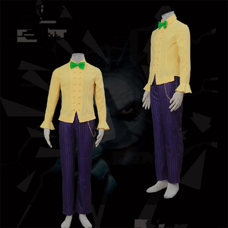 Batman Arkham City The Joker Cosplay Halloween Costumes Classic Party Suit