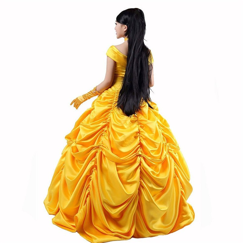 Disney Beauty and the Beast Belle Princess Evening Gown Dresses Costume