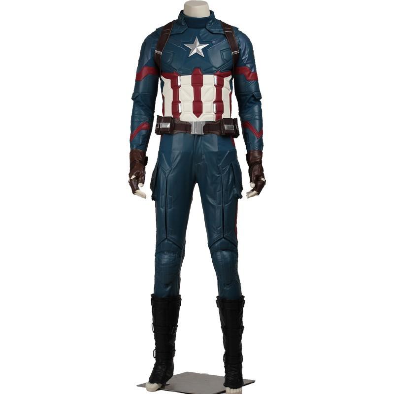 Captain America 3 Civil War Steven Rogers Cosplay Costume Deluxe