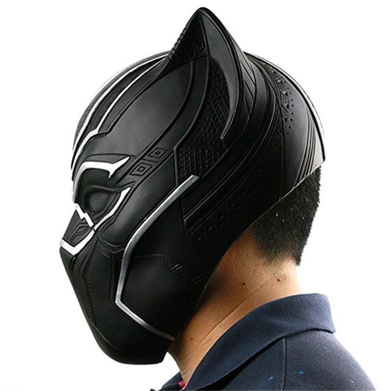 Captain America Civil War Black Panther Adult Latex Mask Halloween Cosplay Helmet